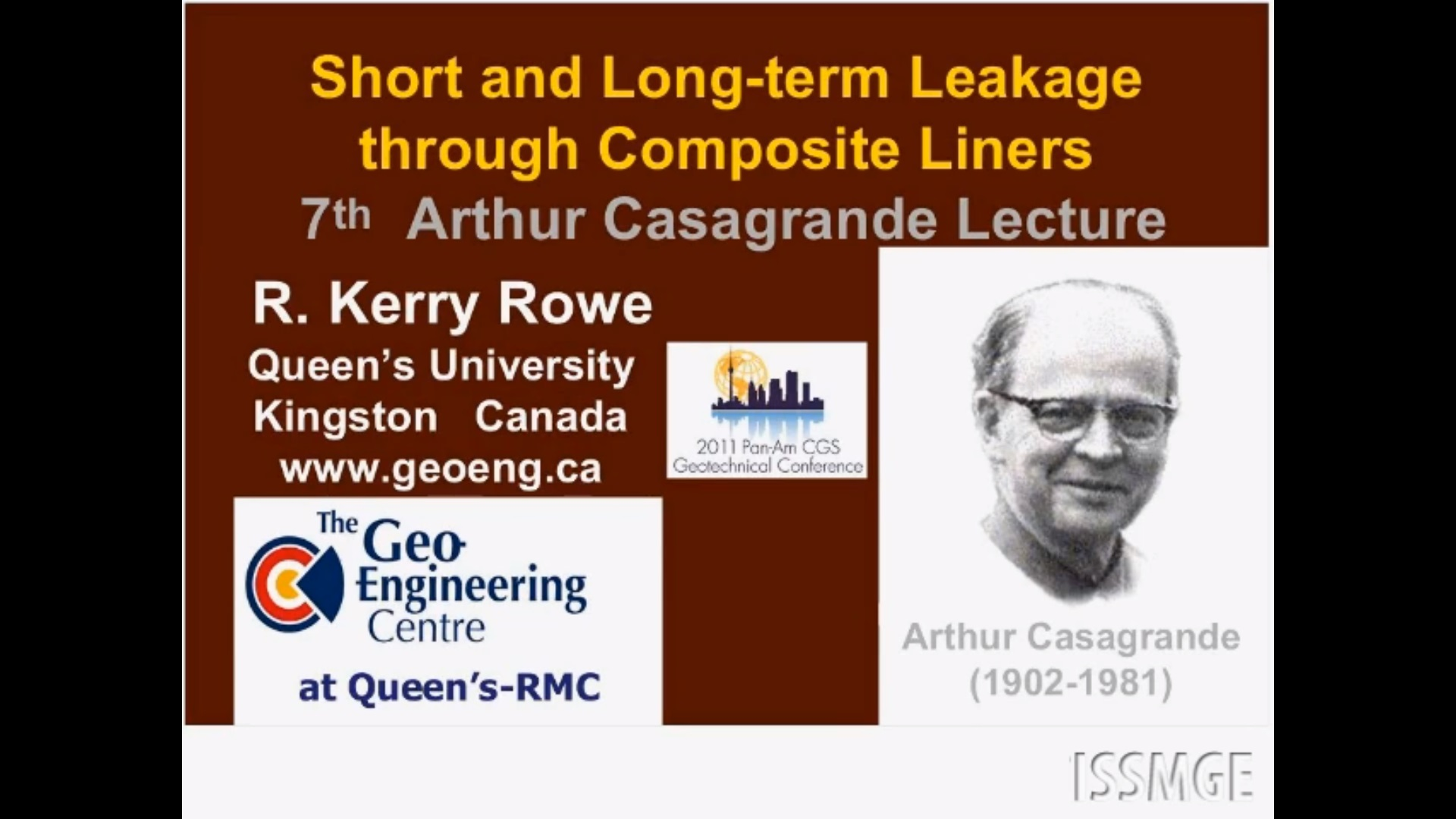 "Short and Long Term Leakage through Composite Liners, The 7th Arthur Casagrande Lecture {""category"":""honour_lecture"",""subjects"":[""Geoenvironmental Engineering"", ""Landfill Engineering"", ""Geosynthetics for Containment""],""number"":""GE102"",""instructors"":[""Kerry Rowe""]}"