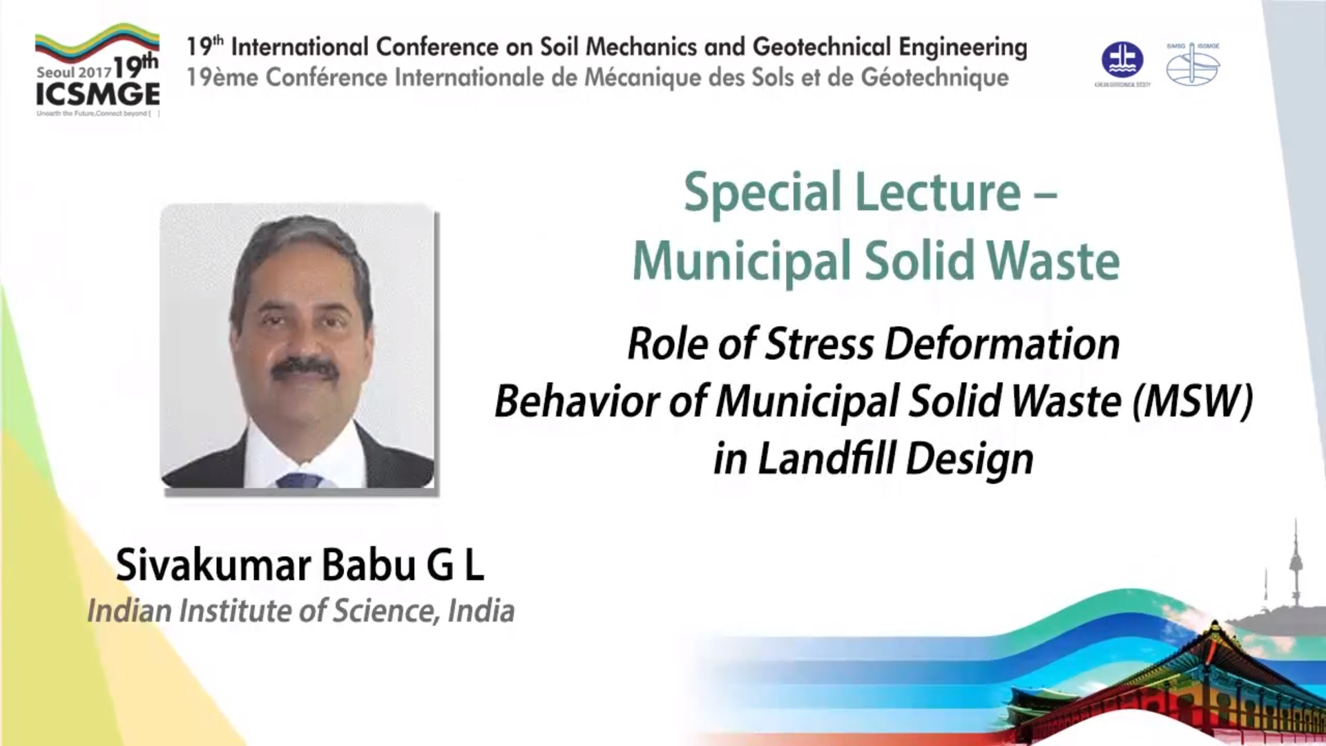 "Role of Stress Deformation Behavior of Municipal Solid Waste (MSW) in Landfill Design (Municipal Soil Waste Special Lecture - 19th ICSMGE) {""category"":""honour_lecture"",""subjects"":[""Landfill Engineering""],""number"":""ICSMGE19108"",""instructors"":[""Sivakumar Babu G L""]}"