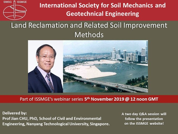 "Land Reclamation and Related Soil Improvement Methods {""category"":""webinar"",""subjects"":[""Landfill Engineering""],""number"":""LE101"",""instructors"":[""Jian CHU""]}"